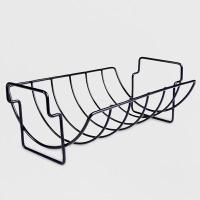 Charcoal Companion® Non-Stick Reversible Grill Rib Rack/Roaster