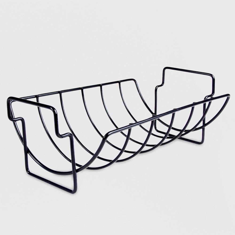 Charcoal Companion Non-Stick Reversible Grill Rib Rack/Roaster 11454698