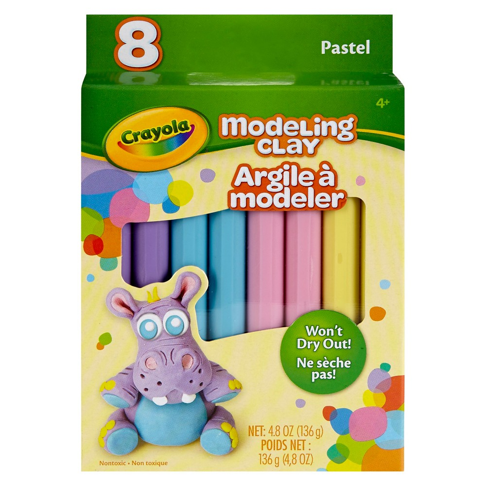 Crayola Modeling Clay, 8ct - Pastel