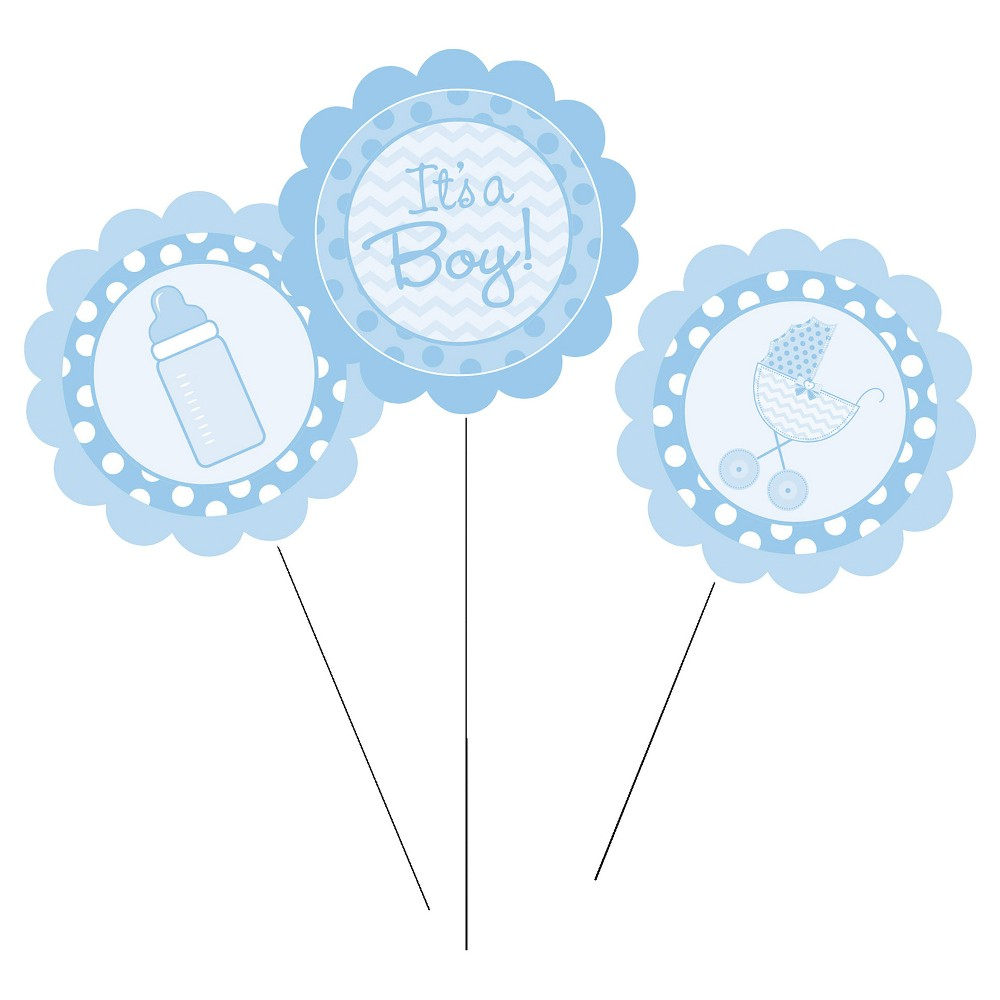 3ct It's a Boy Diy Centerpiece Sticks, Blue