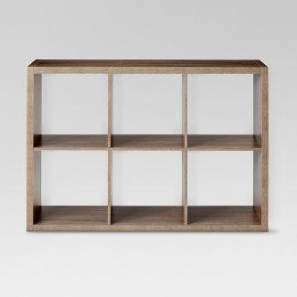 "6-Cube Organizer Shelf Weathered Gray 13"" - Threshold™"