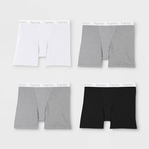 5ed382cf3fe3b Hanes Premium Women's 4pk Comfortsoft Waistband With Cotton Long Leg Boxer  Briefs : Target