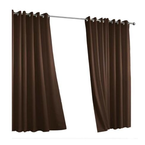 Outdoor Decor In & Outdoor Gazebo Solid Grommet Top Window Curtain Panel - image 1 of 1
