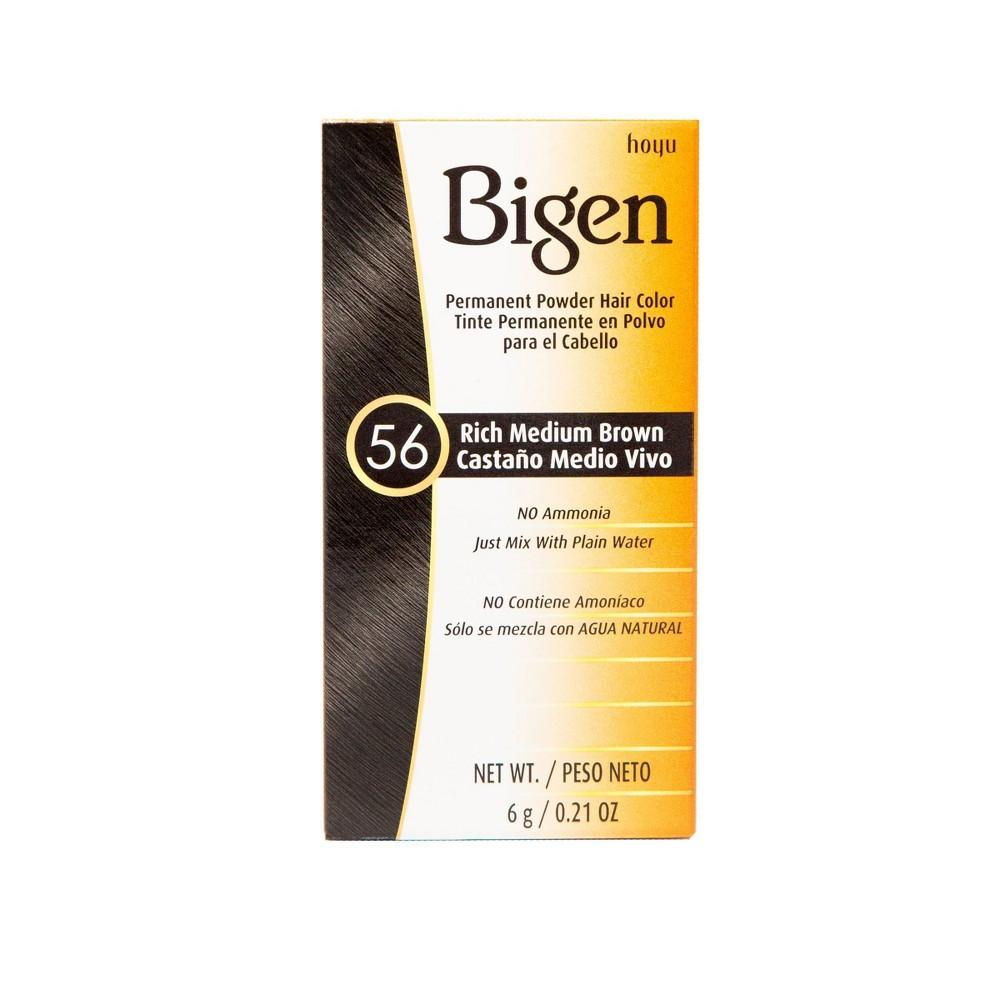 Image of Bigen Permanent Powder Hair Color - 56 Rich Medium Brown - 0.21oz