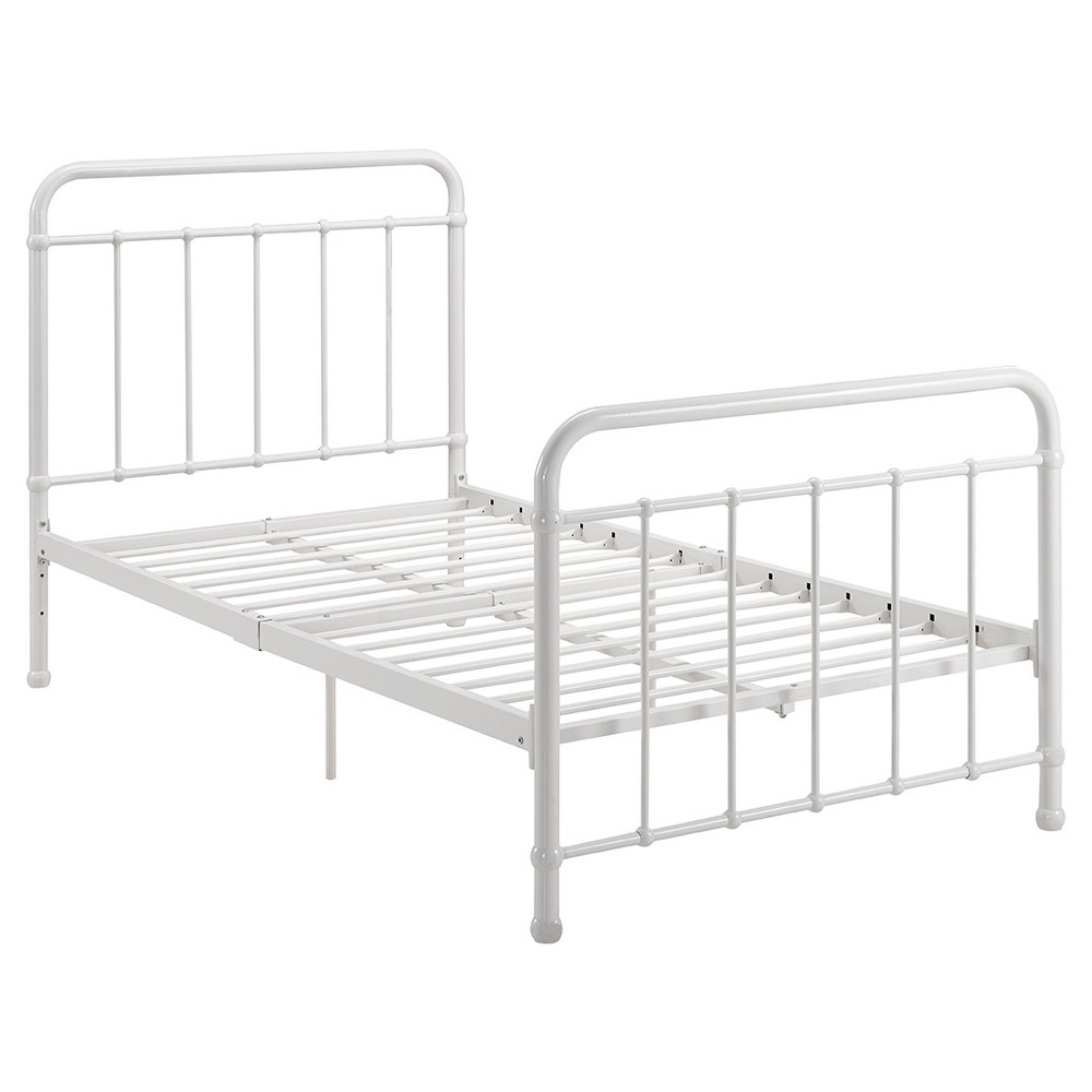 Brooklyn Iron Bed - Twin - White - Dorel Home Products