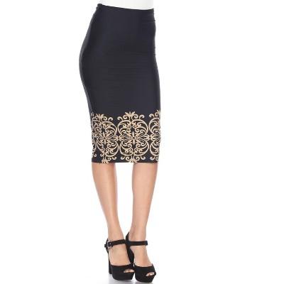 Women's Cynthia Pencil Skirt - White Mark