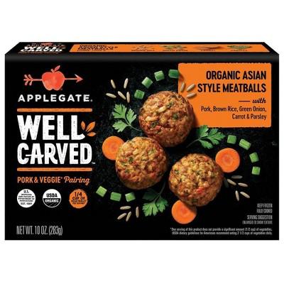 Applegate Well Carved Organic Asian Style Pork & Vegetable Meatballs - Frozen - 10oz