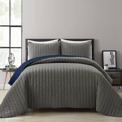 Soft Stripe Quilted/Coverlet - Lush Décor