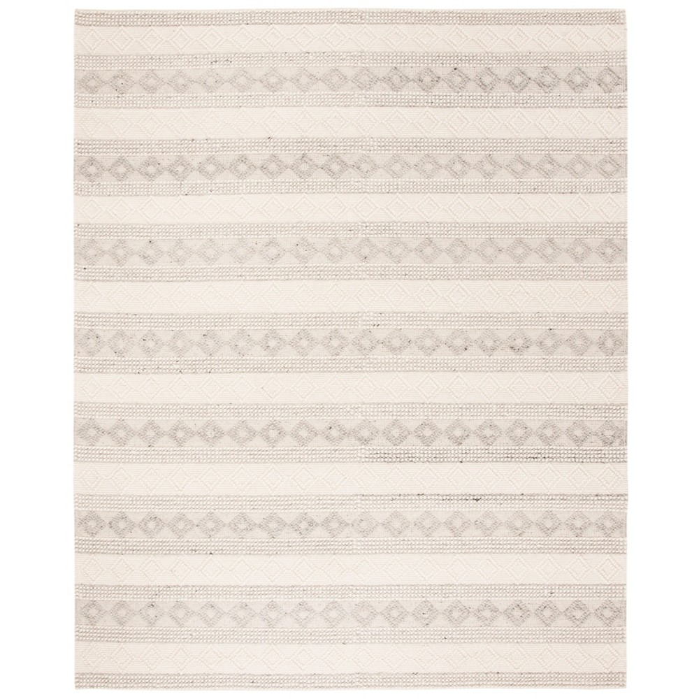 8'X10' Woven Geometric Area Rug Gray - Safavieh, Gray/Ivory