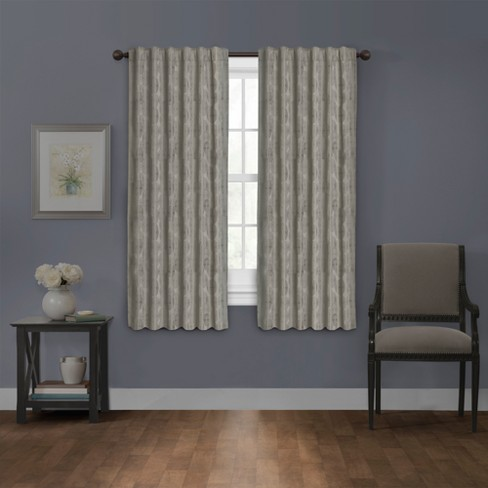 "Carlton Platinum Blackout Smart Curtain Panel Silver 50""x63"" - Maytex - image 1 of 7"