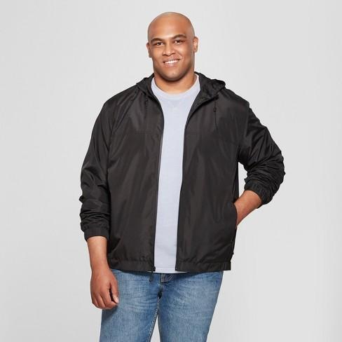 df44ed831 Men's Big & Tall Rain Jacket - Goodfellow & Co™ Black 4XBT : Target