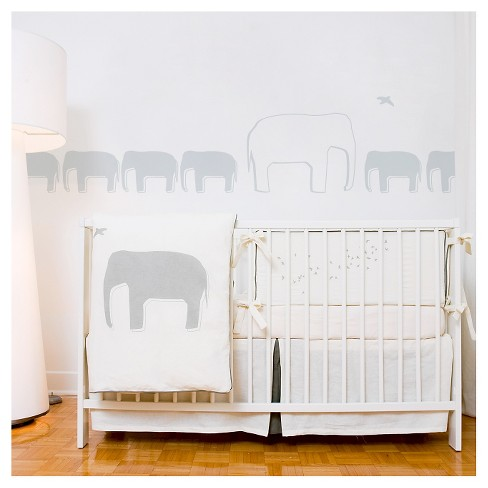 Poids Plume Elephant Nursery Wall Decals - Light Gray - image 1 of 1