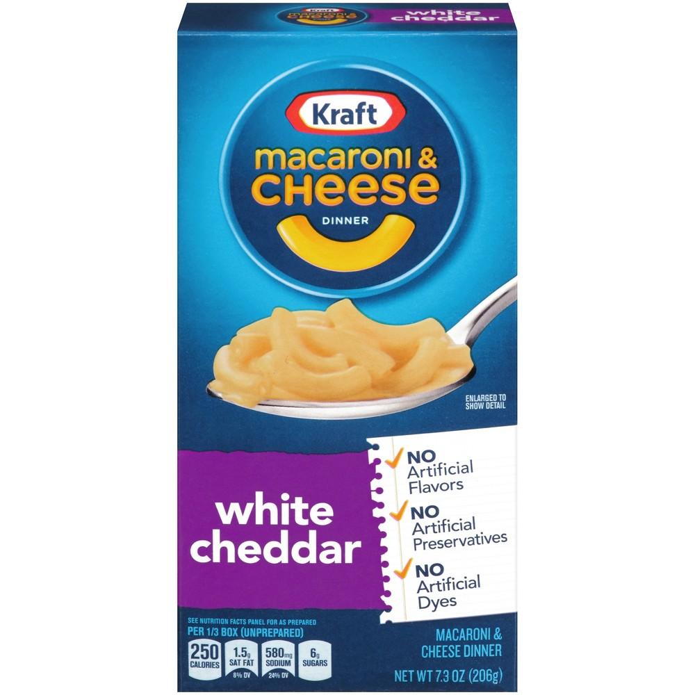 Kraft White Cheddar Macaroni & Cheese Dinner 7.03 oz