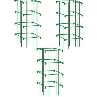 Pepper and Eggplant Plant Support Steel Cages, Set of 3 - Gardener's Supply Company