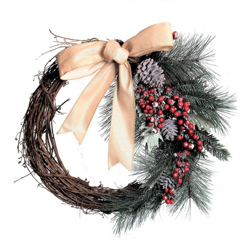 Grapevine Pinecone Berry Artificial Wreath - image 1 of 1