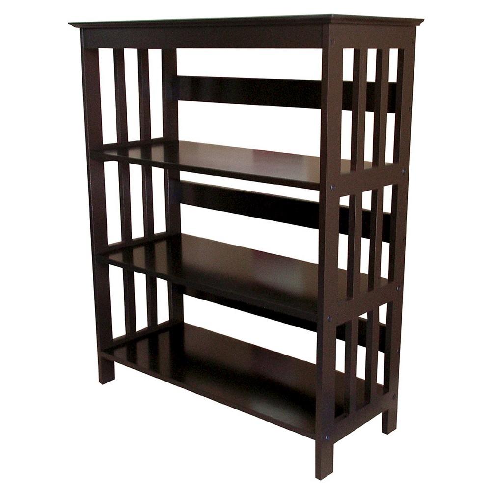 "Image of ""36"""" 3 Tier Bookcase Espresso - Ore International, Brown"""