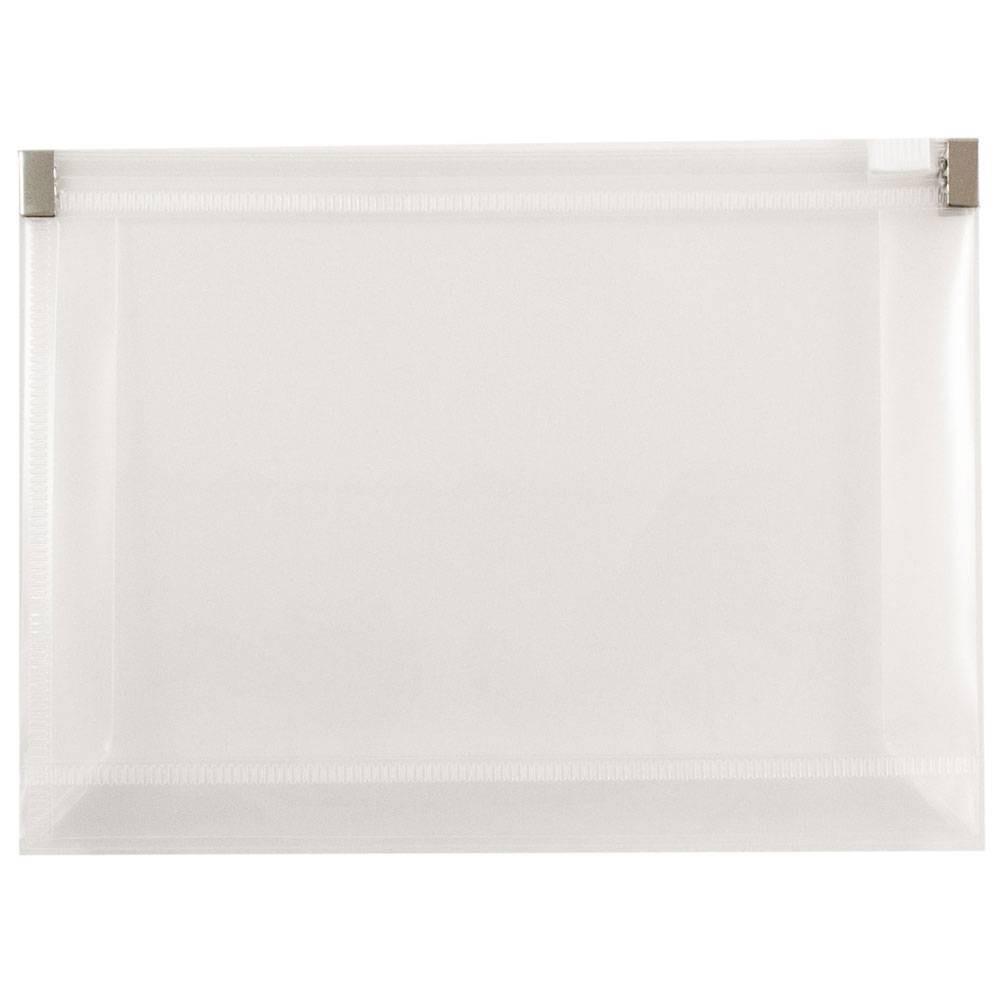 Jam Paper 4 1/2'' x 6 1/2'' 12pk Plastic Envelopes with Zip Closure, Booklet - Clear Jam Paper 4 1/2'' x 6 1/2'' 12pk Plastic Envelopes with Zip Closure, Booklet - Clear