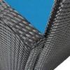 Brisbane 4pc Wicker Rattan Patio Furniture Set - Blue - Sunnydaze Decor - image 3 of 4