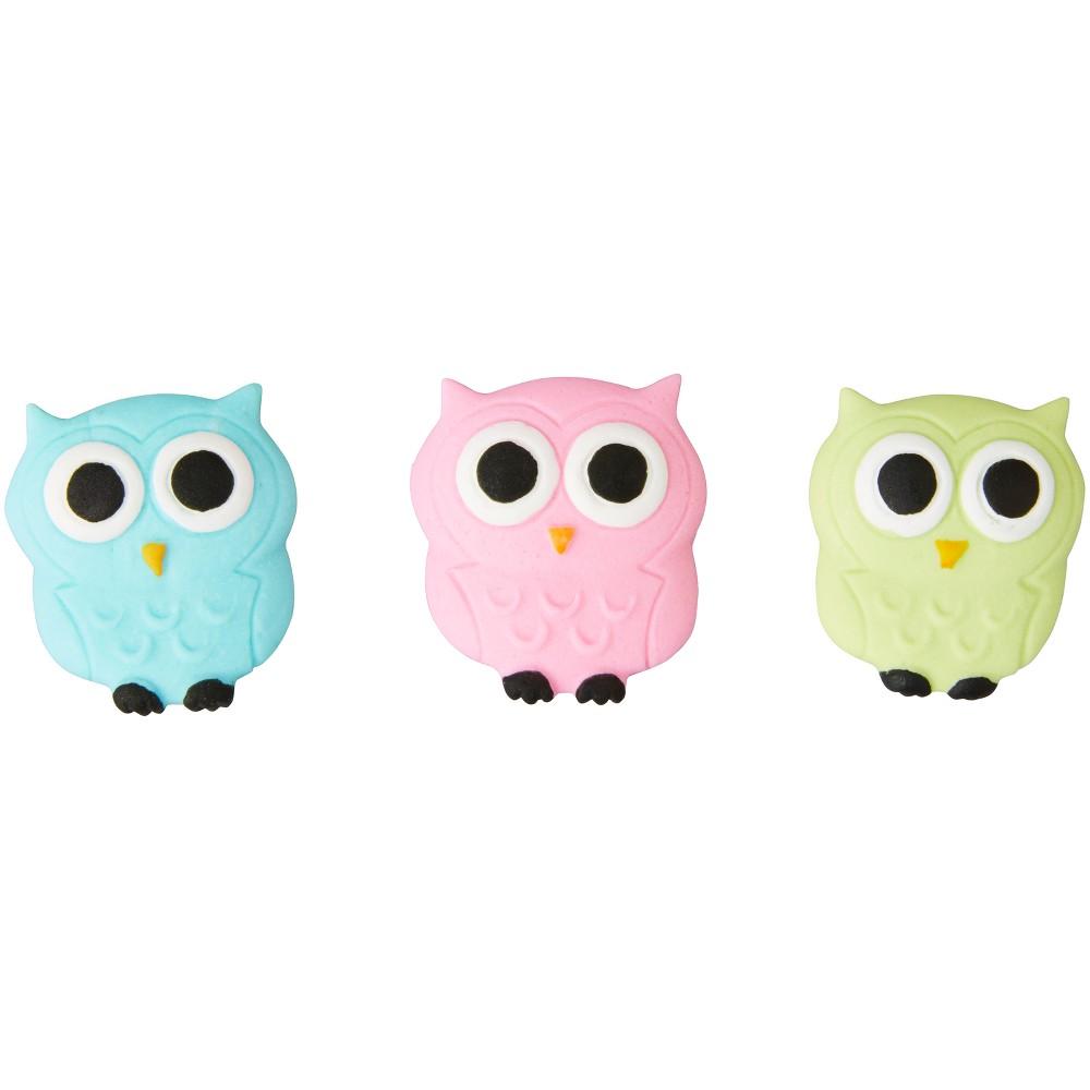 12ct Owl Cake Decoration - Wilton, Multi-Colored