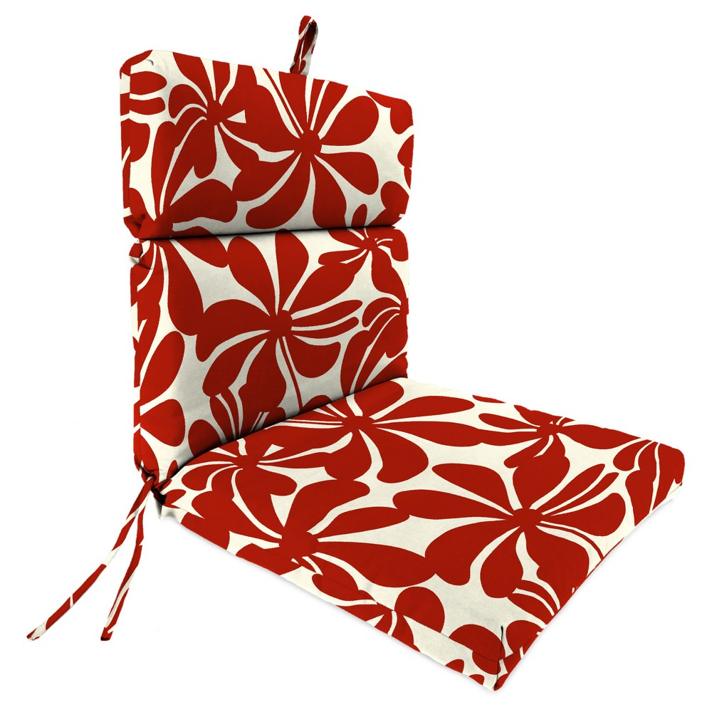 Outdoor French Edge Dining Chair - Twirly American Red - Jordan Manufacturing
