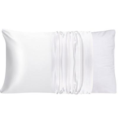 1 Pc King 100% Natural Pure Silk Pillowcase Snow White - PiccoCasa
