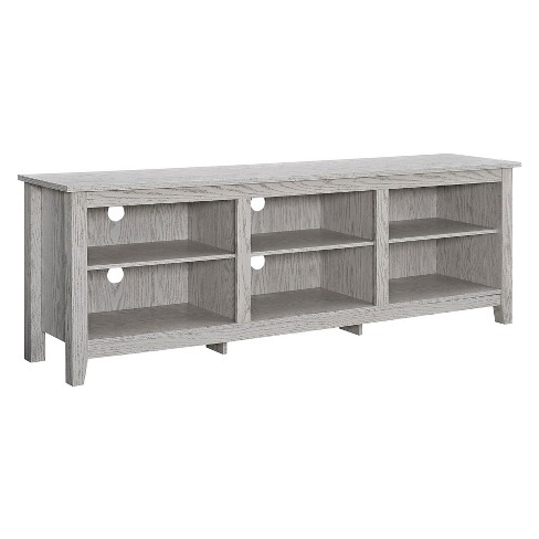 "70"" Wood Media TV Stand Storage Console - Saracina Home - image 1 of 4"