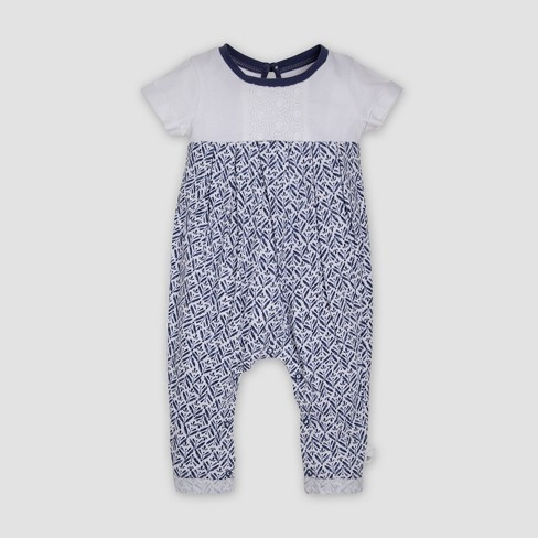 b7af3371a77 Burt s Bees Baby® Baby Girls  Organic Cotton Plants Bubble Coveralls - Cloud