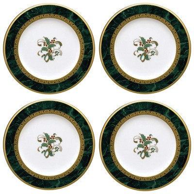 Noritake Fitzgerald Set of 4 Holiday Accent Plates