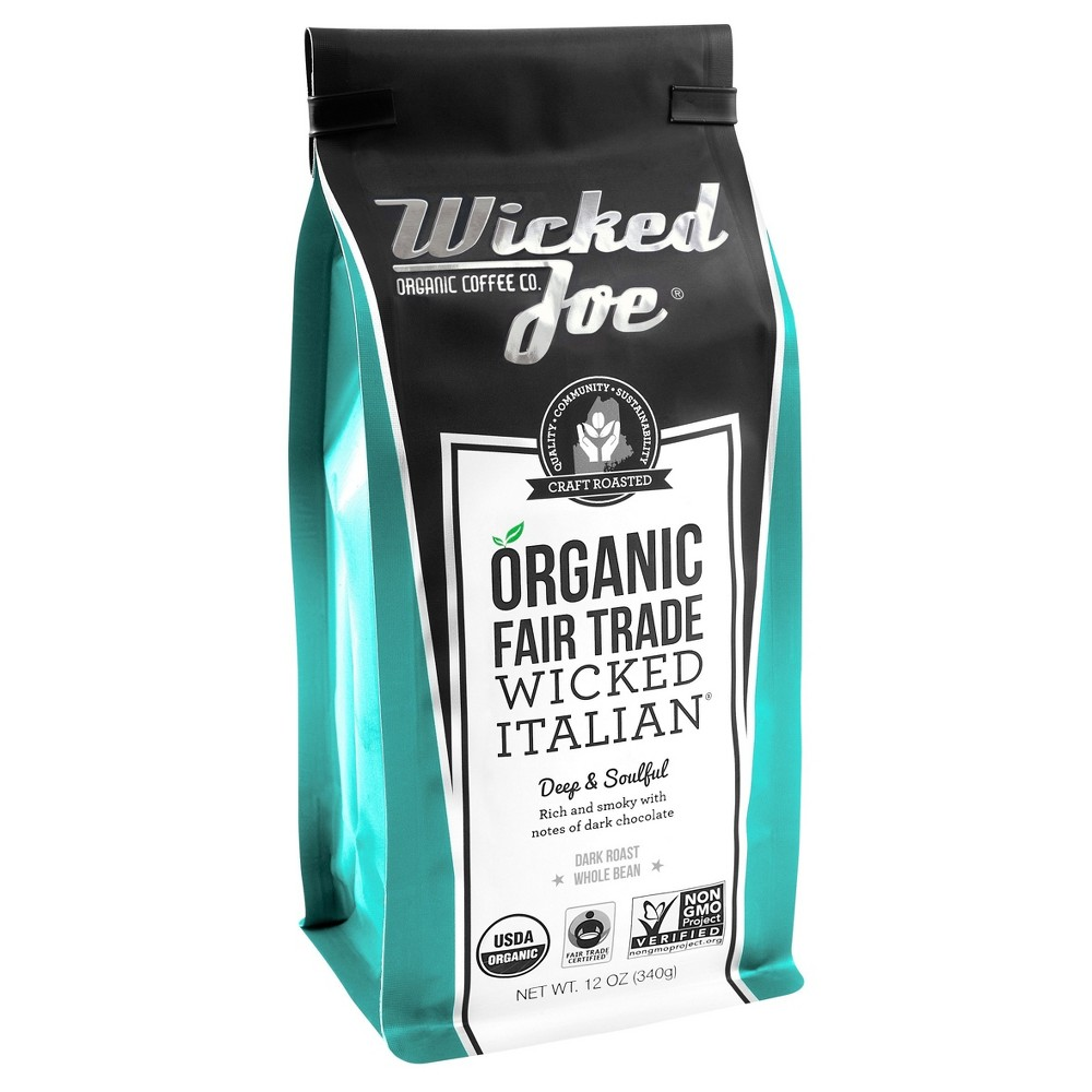 Wicked Joe Coffee Co. Italian Whole Bean Dark Roast Coffee - 12oz