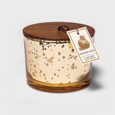 11.9oz Lidded Mercury Glass Jar 3-Wick Pumpkin Spice Candle - Threshold™