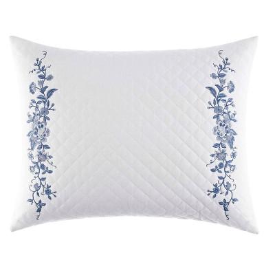 "16""x20"" Charlotte China Throw Pillow Blue - Laura Ashley"