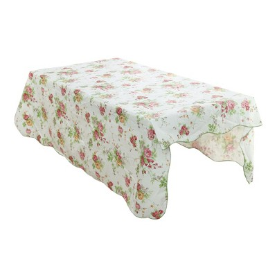 """35""""x35"""" Square Vinyl Water Oil Resistant Printed Tablecloths Pink Rose - PiccoCasa"""