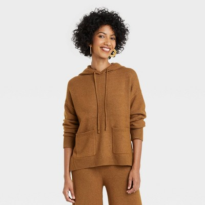 Women's Crewneck Hooded Pullover Sweater - A New Day™