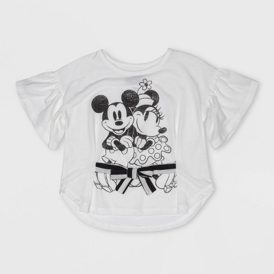 Toddler Girls' Disney Mickey Mouse & Friends Short Sleeve T-Shirt - White 2T