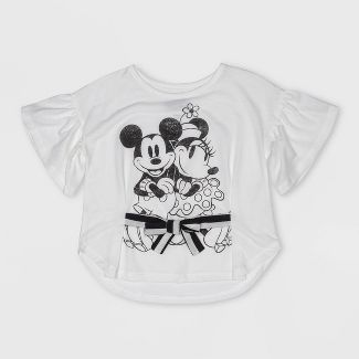 Toddler Girls' Disney Mickey Mouse & Friends Short Sleeve T-Shirt - White 4T