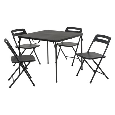 Cosco 5pc Folding Table and Chair Set Black