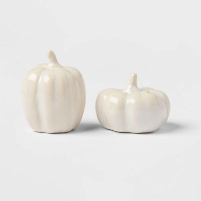 2pc Stoneware Pumpkin Salt and Pepper Shaker Set - Threshold™