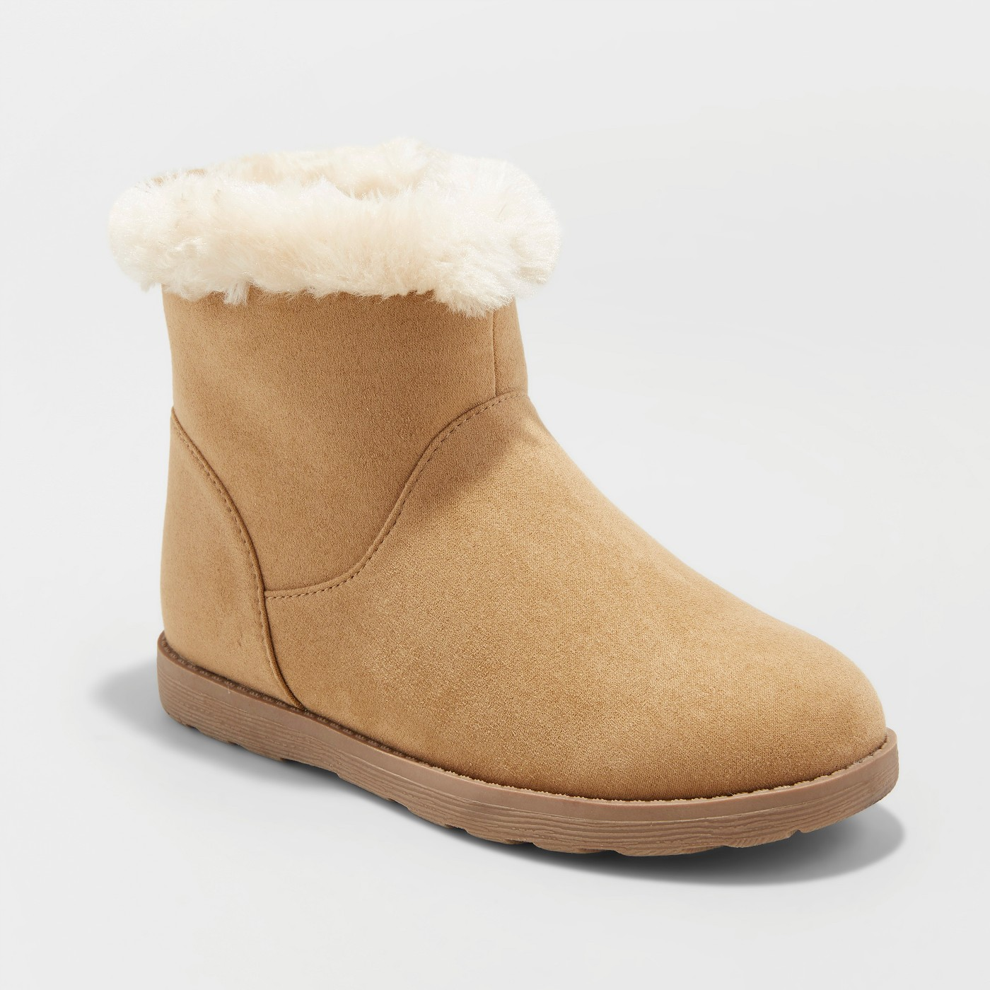 Girls' Haiden Microsuede Fleece Ankle Fashion Boots - Cat & Jack™ - image 1 of 3