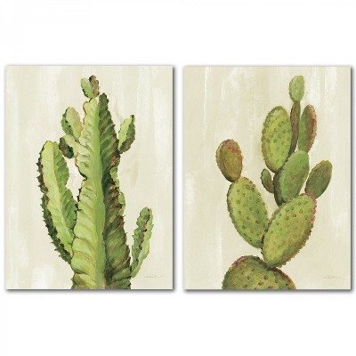 (Set of 2) Front Yard Cactus by Wild Apple Wall Art Set - Americanflat
