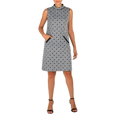 Dr Collection Women's Mock Neck Dress With Pockets