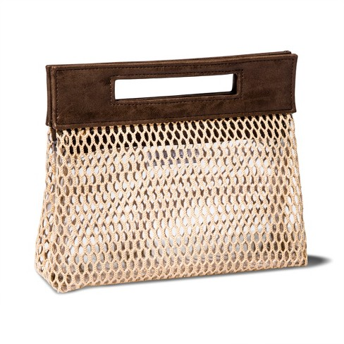 Sonia Kashuk™ Pull Apart Open Weave Makeup Organizer Bag - Beige - image 1 of 4
