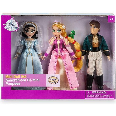 Disney Tangled The Series Rapunzel, Cassandra and Eugene (Flynn) Exclusive 5-Inch Mini Doll 3-Pack Set - image 1 of 3