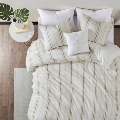 Camden Organic Cotton Yarn Dyed Oversized Comforter Cover Set- Clean Spaces
