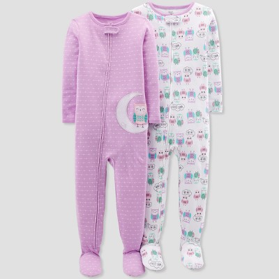 Baby Girls' Owl Footed Sleeper - Just One You® made by carter's Purple 12M
