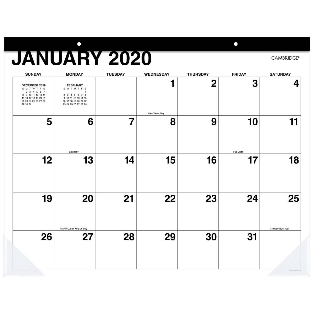Image of 2020 Desk Calendar White - Cambridge