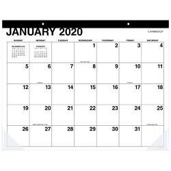 2020 Desk Calendar White - Cambridge