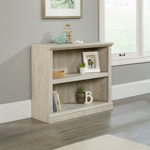29921 Sauder 2 Shelf Bookcase Chalked Chestnut Finish Target