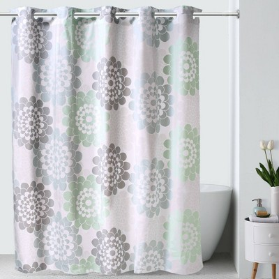 Flower PEVA Shower Curtain - Hookless