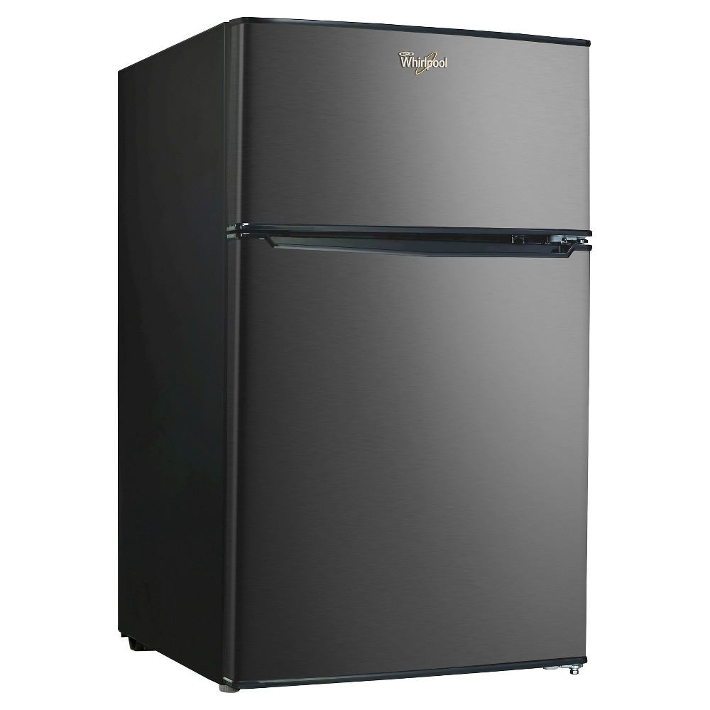 Whirlpool 3.1 Cu. Ft. Black Stainless Mini Refrigerator – Bcd-88V, Black/Silver