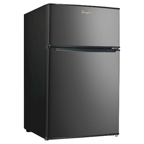 Whirlpool 3.1 Cu. Ft. Black Stainless Mini Refrigerator – BCD-88V - image 1 of 4